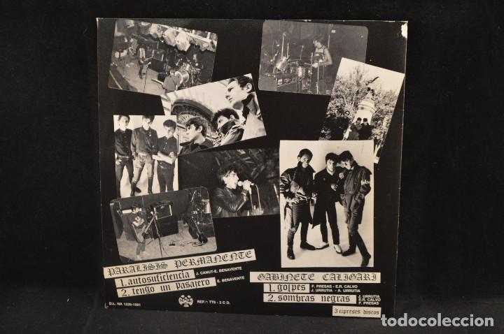Discos de vinilo: PARALISIS PERMANENTE / GABINETE CALIGARI - AUTOSUFICIENCIA +3 - EP - Foto 2 - 133001030
