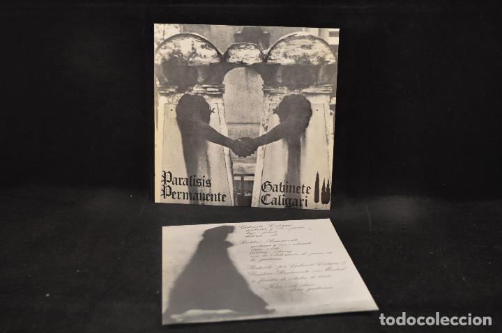 Discos de vinilo: PARALISIS PERMANENTE / GABINETE CALIGARI - AUTOSUFICIENCIA +3 - EP - Foto 3 - 133001030