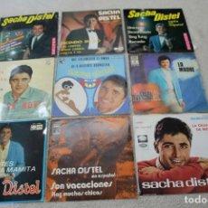 Discos de vinilo: LOTE 9 EP'S Y SINGLES SACHA DISTEL DOS DE ELLOS MUESTRA INVENDIBLE DESTINADO A PROMOCION. Lote 133005890
