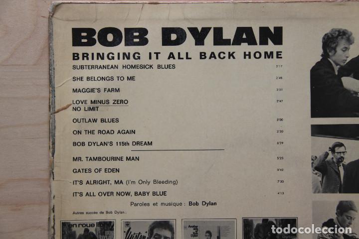 Discos de vinilo: LP BOB DYLAN 1960s BRINGING IT ALL BACK HOME EDICION FRANCESA - Foto 5 - 133006078