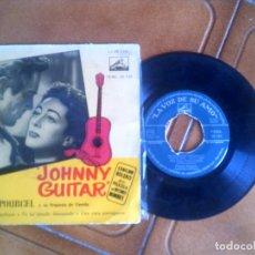 Discos de vinilo: DISCO DE FRANCK POURCEL SOBRE LA PELICULA JOHNNY GUITAR. Lote 133015614