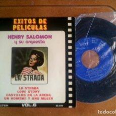 Discos de vinilo: DISCO DE LA PELICULA LA STRADA POR HENRY SALOMON Y SU ORQUESTA. Lote 133015774