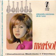 Discos de vinilo: MARISOL: INTERPRETA CANCIONES DE LA TUNA (CLAVELITOS / ESTUDIANTINA...). ZAFIRO, 1964. Lote 133027762
