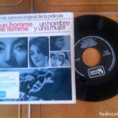 Discos de vinilo: DISCO BANDA SONORA ORIGINAL DE LA PELICULA ,UN HOMBRE Y UNA MUJER. Lote 133032174