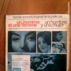 Discos de vinilo: DISCO SOBRE LA PELICULA UN HOMBRE Y UNA MUJER. Lote 133032918