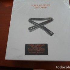 Discos de vinilo: CAJA DELUXE MIKE OLDFIELD TUBULAR BELLS.CONTIENE 3 CDS, 1 VINILO, POSTER Y UN LIBRO 60 PAGS. Lote 133035938