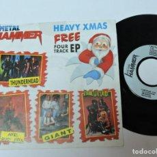 Discos de vinilo: METAL HAMMER - HEAVY XMAS FREE FOUR TRACK EP 7'' . Lote 133036090