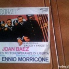 Discos de vinilo: BANDA SONORA DE LA PELICULA SACCO Y VANZETTI POR ,JOAN BAEZ. Lote 133054086