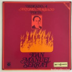 Discos de vinilo: JOAN MANUEL SERRAT – DEDICADO A ANTONIO MACHADO, POETA (ESPAÑA, 1969). Lote 133063318