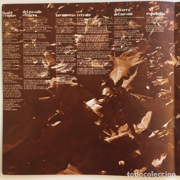 Discos de vinilo: Joan Manuel Serrat – Dedicado A Antonio Machado, Poeta (España, 1969) - Foto 4 - 133063318