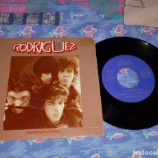 Discos de vinilo: LOS RODRIGUEZ ENGANCHATE CONMIGO SINGLE VINILO PROMO 1991 ANDRES CALAMARO ARIEL ROT MISMO TEMA. Lote 133082789