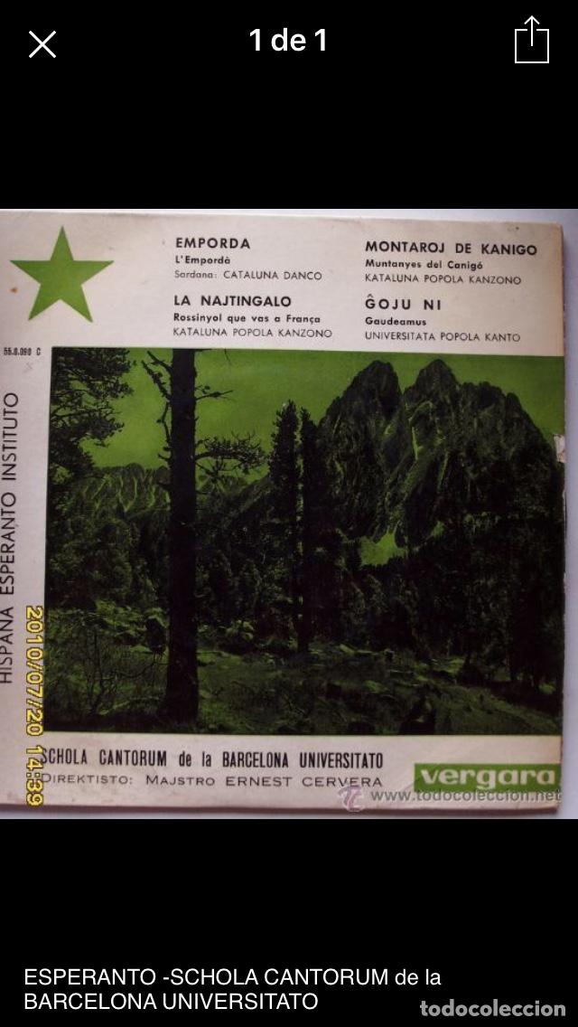 SCHOLA CANTORUM DE LA UNIVERSIDAD DE BARCELONA (Música - Discos de Vinilo - EPs - Otros estilos)
