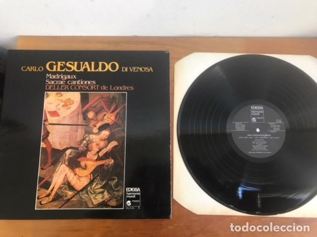 CARLO GESUALDO DE VENOSA LP MADRIGALES Y CANCIONES SACRAS 1981 (Música - Discos - Singles Vinilo - Clásica, Ópera, Zarzuela y Marchas)