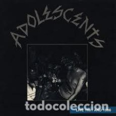 Discos de vinilo: ADOLESCENTS - LIVE 1981 AND 1986 - WITH INSERT - LP. Lote 194865238