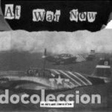 Discos de vinilo: VARIOUS - AT WAR NOW - AN ANTI-WAR COMPILATION - CAPITALIST CASUALTIES, AGATHOCLES, UNHOLY GRAVE, Y. Lote 172995442
