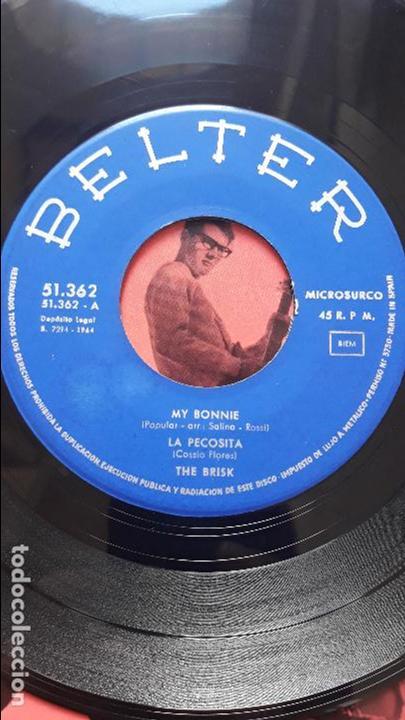 Discos de vinilo: The brisk- my bonnie/ la pecosita +2- ep belter 1964 - Foto 3 - 133145354