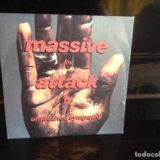 Discos de vinilo: MASSIVE ATACK - UNFINISHED SYMPATHY. SINGLE VINILO 1991- 2 TEMAS. MADE IN GERMANY. COMO NUEVO. . Lote 133150662