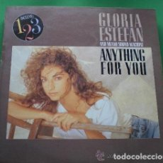 Discos de vinilo: GLORIA ESTEFAN AND MIAMI SOUND MACHINE– ANYTHING FOR YOU - LP SPAIN 1988 + ENCARTE. Lote 133167026