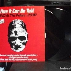 Discos de vinilo: DEVO NOW IT CAN BE BE TOLD LP SPAIN 1989 PEPETO TOP . Lote 133167442