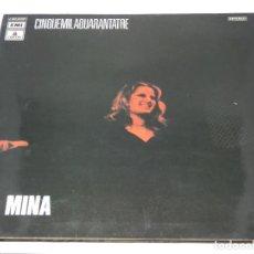 Discos de vinilo: LP - MINA - CINQUEMILAQUARANTATRE - DOBLE PORTADA - 1972. Lote 133175370