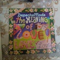 Discos de vinilo: MAXI DEPECHE MODE - THE MEANING OF LOVE-SPCO 7332. Lote 133176126