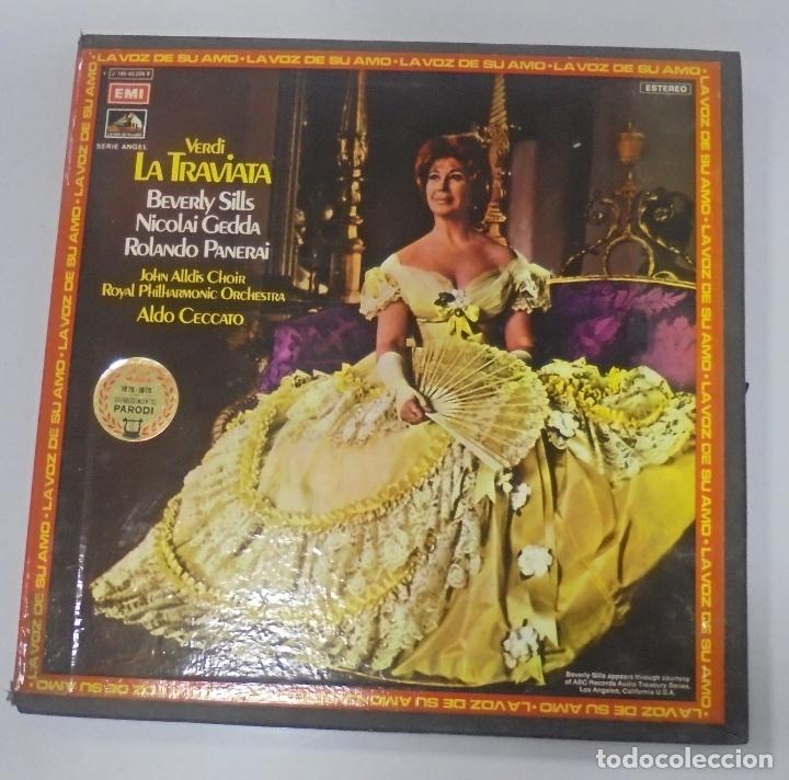 CAJA CON 2 LP. VERDI. LA TRAVIATA. ALDO CECCATO. DISCOS EMI (Música - Discos - LP Vinilo - Clásica, Ópera, Zarzuela y Marchas)