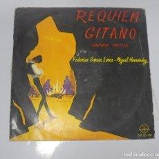 Discos de vinilo: LP. REQUIEM GITANO. SINFONIA POETICA. GARCIA LORCA - MIGUEL HERNANDEZ. GAMMA. Lote 133205490