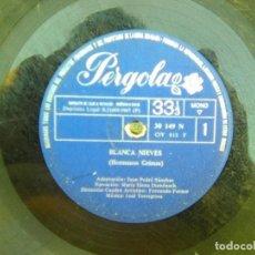 Discos de vinilo: BLANCA NIEVES + CAPERUCITA ROJA POR MARÍA ELENA DOMENECH (PERGOLA, 1967) 10 PULGADAS . Lote 133213182