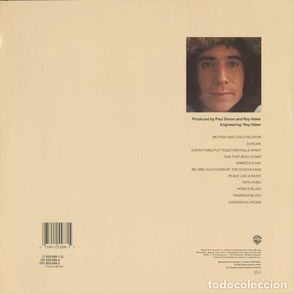 PAUL SIMON – PAUL SIMON (1972) SELLO: WARNER BROS. RECORDS – 925 588-1 (Música - Discos - LP Vinilo - Pop - Rock - Extranjero de los 70)