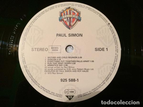 Discos de vinilo: Paul Simon – Paul Simon (1972) Sello: Warner Bros. Records – 925 588-1 - Foto 3 - 133217586
