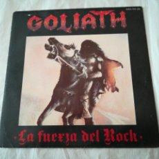 Discos de vinilo: GOLIATH LA FUERZA DEL ROCK DRÁCULA. SINGLE DISCO VINILO. 1985. SERDISCO CHAPA DISCOS.. Lote 133226942