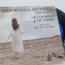 Discos de vinilo: SINGLE (VINILO) DE ERNESTO BITETTI AÑOS 70. Lote 133233574