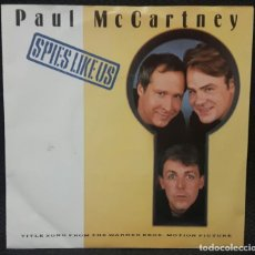 Discos de vinilo: PAUL MCCARTNEY - BEATLES - SPIES LIKE US - SINGLE - HOLANDA - 1985 - VER DESCRIPCION. Lote 133235666