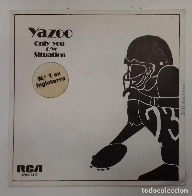 Discos de vinilo: YAZOO - ONLY YOU / SITUATION - SG PROMO - ED ESPAÑOLA 1982 - Foto 1 - 133241742