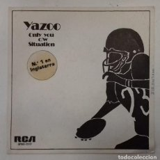 Discos de vinilo: YAZOO - ONLY YOU / SITUATION - SG PROMO - ED ESPAÑOLA 1982. Lote 133241742