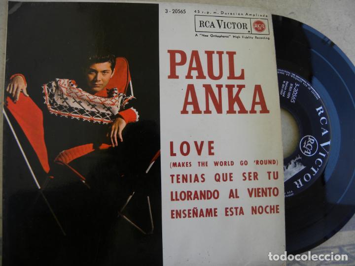 PAUL ANKA -LOVE -EP 1963 (Música - Discos de Vinilo - EPs - Pop - Rock Internacional de los 50 y 60)