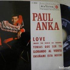 Discos de vinilo: PAUL ANKA -LOVE -EP 1963 . Lote 133244826