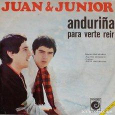 Discos de vinilo: JUAN & JUNIOR – ANDURIÑA (ESPAÑA, 1968). Lote 133265946