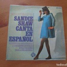 Discos de vinilo: SANDIE SHAW CANTA EN ESPAÑOL MARIONETAS EN LA CUERDA +3 EUROVISIÓN 67 PYE HISPAVOX 1967. Lote 133273114