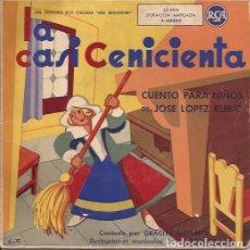 Discos de vinilo: SINGLE- LA CASI CENICENTA JOSE LOPEZ RUBIO GRACITA MORALES RCA3-40003. Lote 133279490