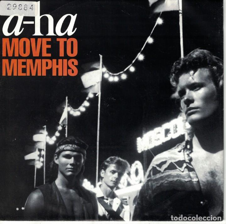 A-HA - MOVE TO MEMPHIS / CRYING IN THE RAIN (SINGLE ALEMAN, WB RECORDS 1991) (Música - Discos de Vinilo - Singles - Pop - Rock Internacional de los 80)