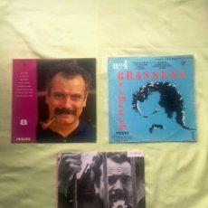 Discos de vinilo: LOTE 3 VINILOS DE GEORGES BRASSENS.. Lote 133295450