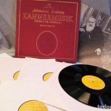 Discos de vinilo: DISCOS LPS MÚSICA CLÁSICA. JOHANNES BRAHMS. COLECCIÓN DE 15 DISCOS EN PERFECTO ESTADO.. Lote 133296346