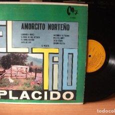 Discos de vinilo: EL TIO PLACIDO AMORCITO NORTEÑO LP MEXICO MAYA LY-70261 JAVICOLACION . Lote 133304714