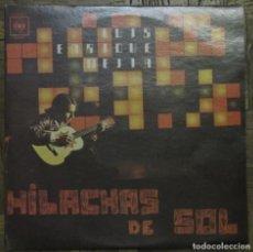 Discos de vinilo: LUIS E. MEJÍA. HILACHAS DE SOL. CBS 100.048, COSTA RICA. EX, EX.. Lote 133308234