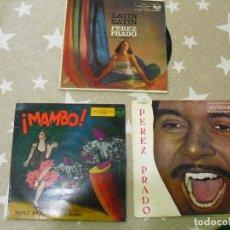 Discos de vinilo: PEREZ PRADO: LOTE DE 3 DISCOS EN EXCELENTE ESTADO DE CONSERVACIO. Lote 133309562