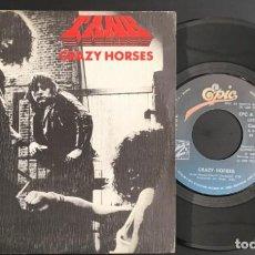 Discos de vinilo: TANK CRAZY HORSES EPIC  EPC A-2913 SINGLE SPAIN 1982 VINILO COMO NUEVO!!. Lote 133330798