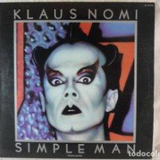 Discos de vinilo: KLAUS NOMI - SIMPLE MAN - 1982 RCS PL-37702 - DISCO VINILO LP. Lote 133336954