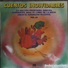 Discos de vinilo: CUENTOS INOLVIDABLES. LP MUXIVOX SPAIN 1981 (VOL. 14). Lote 133339682