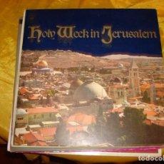 Discos de vinilo: HOLY WEEK IN JERUSALEM. CBS, . EDT ISRAEL. PORTADA ABIERTA CON LIBRETO. IMPECABLE. Lote 133340926